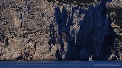 Little Yacht Big Cliff (Sailor Alex) Tags: boat sailboat sloop vessel sardinia yachting cruising cruisers yacht sea sailing