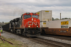 NS 77V at Austell (04-2014) (travisnewman100) Tags: norfolk southern train railroad coal unit freight cn canadian national ac44cw emd sd70m2 austell georgia division inman subdivision atlanta north district locomotive