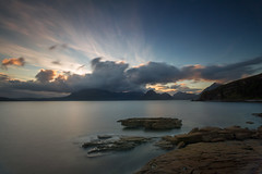 Sunset in Elgol (Kyoshi Masamune) Tags: scotland kyoshimasamune isleofskye westscotland skye innerhebrides highlands wideangle ultrawideangle seascape cliff coast longexposure cokinfilters sunset elgol lochscavaig cokinnd8 nd8 zomei thecuillins scottishhighlands strathairdpeninsula clouds cloudscape nd1000 uk zomeind1000