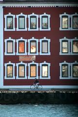 Strandkaien (daniel.virella) Tags: pier harbour stavanger norway norge window bicycle man bike house reflexes picmonkey