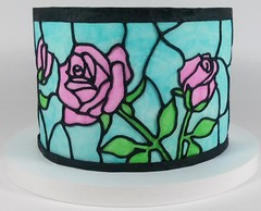 Stained Glass Window Rose (Edible Delights) Tags: stainedglass window glass stained rose cake fondant gumpaste icing
