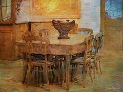 Intrieur Art Nouveau (jeanfenechpictures) Tags: artnouveau paris m musedorsay meubles furnitures table chaises chairs 20mesicle sallemanger intrieur dcoration ancien old acajou architecture iledefrance