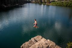 Alpine Plunge (SoCal Mark) Tags: jump rock cliff lake alpine arrowhead eastern sierra mammoth california summer mary ca 2016 man mountain