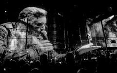 U2 @ O2 30.10.15 (Nomis.) Tags: panasonic lumix lx3 gig music concert live band london o2 u2 u2o2 lightroom monochrome mono bw blackandwhite innocenceexperiencetour u2ie p1610514editlr p1610514 stage screen