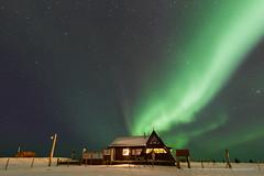 The Aurora Cabin (Kjartan Guðmundur) Tags: sky snow stars iceland cabin nightscape ísland northernlights auroraborealis norðurljós canoneos5dmarkiii sailsevenseas tokinaatx1628mmf28profx kjartanguðmundur