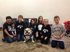 """I've got my helpers ready to collect food items for @GleanersFBIndy at the @ButlerMBB game tonight. #TeamFightHunger • <a style=""""font-size:0.8em;"""" href=""""http://www.flickr.com/photos/73758397@N07/15463359553/"""" target=""""_blank"""">View on Flickr</a>"""