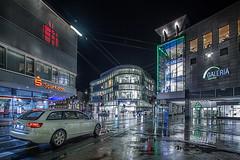 Saarbrigge by Night (pewag-photos) Tags: karstadt sparkasse saar saarland saarbrücken saarbrigge bahnhofstrase