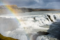Gullfoss with rainbow (p.fabian) Tags: arcoiris island waterfall iceland islandia rainbow wasser wasserfall regenbogen