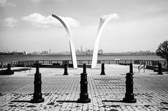 Staten Island 911 Memorial (nigelrumsey) Tags: nyc bw usa newyork film 35mm memorial kodak trix 911 hc110 statenisland leicam6 2014 nigelrumsey wwwnigelrumseycom