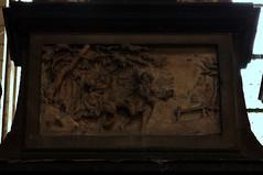 Saint Omer, Nord-Pas-de-Calais, Cathédrale Notre-Dame, entry of batismal chapel {north aisle}, detail