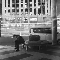 000006 (n8shac) Tags: longexposure november winter urban bw night asia korea seoul zeissikon southkorea ilford fp4 gangnam 2014 iso125 superikontab
