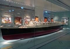 QM Southampton 1 (PhillMono) Tags: city sea heritage history museum lumix boat model ship mary north vessel line atlantic queen panasonic maritime passenger nautical southampton cunard liner