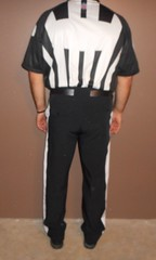 Authentic NFL officials short sleeve uniform. (Football Officials Referee Uniforms) Tags: pink blue white man black game men jock up field grass hat leather yellow socks shirt fetish bag shoe back football belt clothing athletic referee official sock shoes uniform warm long day pants flat underwear head side low nfl think sunday under stripe super bowl bean line wear clothes compression briefs cap national short judge trousers shorts superbowl monday thursday sleeve turf whistle striped league penalty pinstripe pregame umpire reebok lanyard pinstriping officials linesman