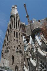 En construccin, Sagrada Familia (MrFenwick) Tags: barcelona espaa spain gaudi gaud catalunya sagradafamilia espagne sagrada catalua barcelone basilique baslica antonigaud catalogne