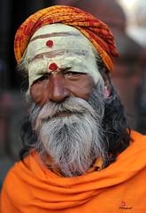 साधु sādhu (YellowSingle 单黄) Tags: nepal man nikon holy himalaya hinduism baba f28 pashupatinath 2470mm bagmati sādhu साधु
