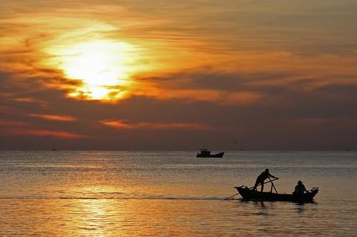 Vietnamese fishermen, Phu Quoc island