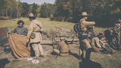 Civil War Re-enactment ([ raymond ]) Tags: newyork field union battle confederate soldiers montgomery civilwarreenactment img9996 orangecountyfarmersmuseum