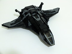 A3-U 'Raven' (default, nose up) (DetOne0508) Tags: black plane fighter lego space air jet stealth futuristic vtol attackplane