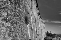architecture, sky, Cortona, Tuscany, Italy, Nikon D40 18-55mm, 3.30.14 (steve aimone) Tags: sky blackandwhite italy monochrome stone architecture monochromatic tuscany stonewall cortona nikond40 architecturalforms