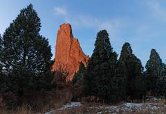 The Odd One (Matt Thalman - Valley Man Photography) Tags: trees snow rock landscape sandstone colorado gardenofthegods odd coloradosprings manitousprings distinct separate