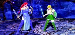 Alis G vs Wendy G -  A sisterly conflict. (Cliffather) Tags: girls sisters highheels boots redhead blonde videogame soulcalibur elfears virtualgirl customcharacter playstation3game soulcaliburv