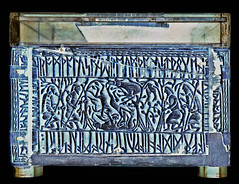 Romulus & Remus and the she-wolf (petrus.agricola) Tags: london museum three chest small casket smith british bone nordic whales saga weiland franks adoration runes edda magi wieland anglosaxon schmied weyland auzon