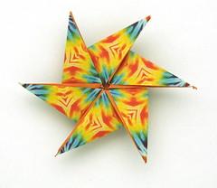 Fujimoto hexagone Rosette 08 back (Pliages et vagabondages) Tags: origami rosette fujimoto hexagone