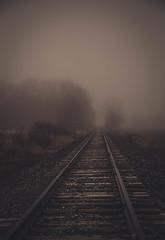 tracks (Jen MacNeill) Tags: weather fog train vanishingpoint track pennsylvania foggy tracks pa lancastercounty leadinglines