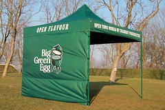 Quick Folding Tent in Custom Big Green Egg uitvoering