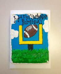 Football cake, by Carla, Linn County, IA, www.birthdaycakes4free.com