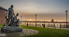 Albert dock (Qais Nidhal) Tags: uk sunset sea sun cold water liverpool dock warm albert qais97
