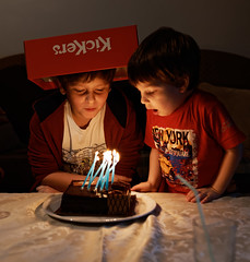 Happy birthday, bro! 14/365 (ekidreki) Tags: birthday boy man men guy boys cake 35mm project lens prime nikon candle bokeh 10 fast sigma indoor guys 365 35 d610 primelens 35mm14 sigma35mm14art