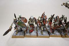 Skeleton Warriors with Swords (Bronzetooth) Tags: skeleton vampire battle fantasy warhammer warriors counts