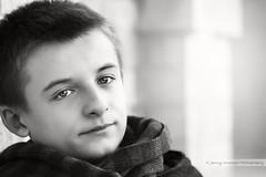 Boyhood (Jenny Onsager) Tags: winter boy boys scarf boyhood blackandwhiteportrait teenboy winterportrait teenportrait canon5dmark3