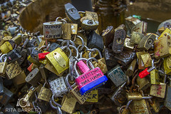 Fuente de los Candados (Rita Barreto) Tags: amricadosul montevidu uruguai cadeados amoreterno pontostursticos 18dejulio fuentedeloscandados avenida18dejulho casaisapaixonados