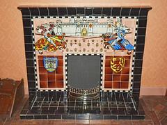 Jackfield Tile Museum, fireplace (robmcrorie) Tags: history museum hospital tile de industrial shropshire maw william ironbridge domestic morgan craven jackfield doulton broseley dunnill