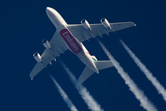 Emirates Airbus A380-861 A6-EOE (Thames Air) Tags: emirates airbus a380861 a6eoe contrails telescope dobsonian overhead vapour trail