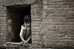 Emptiness (Vichaya Pop) Tags: brick girl sad poor dirt myanmar bagan