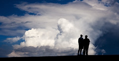 Father and son (-Mathijs-) Tags: sea holland netherlands clouds coast support afterthestorm groningen fatherandson dike understanding familiy delfsail