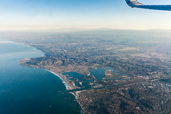 San Diego Mission Bay (Kevin Baird) Tags: vacation san sandiego earth lajolla aerial pacificbeach missionbeach missionbay windowseat 2015
