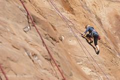 Red Rock Climbing (Photography by Mike Schmidt) Tags: utah sandstone climbing moab wallstreet southernutah redrock rockclimbing rockwall