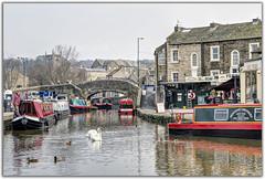 Skipton Canal Basin (Digital Wanderings) Tags: skipton yorkshiredales narrowboats canalbasin penninecruisers