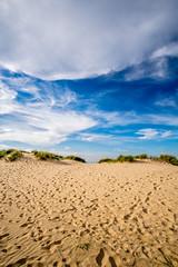 Wells Next The Sea Beach (Neal_T) Tags: 12mm clouds footsteps fuji fujifilm grass samyang samyang12mm sanddunes sky ultrawideangle wideangle xt10 coast holiday sand seaside summer wells wellsnextthesea norwich norfolk uk