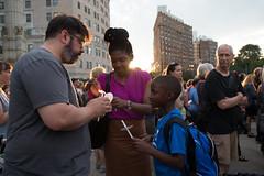 Peace Vigil -15 (MosaicMarj) Tags: brooklyn peace unity faith parkslope vigil candlelightvigil grandarmyplaza blacklivesmatter ericladams altonsterling philandocastile delrawnsmall whitepeopleforblacklives 3in3days