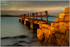 Pier in Connemara (johnhig89) Tags: 2014 cogalway connemara goldenlight ireland landscape leebigstopper nikon2470 nikond3s pier sea sunset years longexposure galway ie