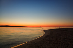 the way~ Sardinia (~mimo~) Tags: blue beach sky water sea mediterranean italy sardinia lapelosa curve sand sunrise girl boy color dawn