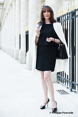 Perspective (french_lolita) Tags: black dress white jacket