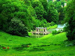 Palladian Bridge, Prior Park, Somerset, UK (Alan FEO2) Tags: bridge trees lake building water grass outdoors pond bath somerset hills finepix fujifilm nationaltrust bushes slope 2600 listed lawns priorpark palladianbridge 2oef