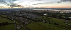 Sunset Over Polmont & Forth Valley (thegoon15) Tags: sunset train scotrail forth phantom falkirk fal polmont dji