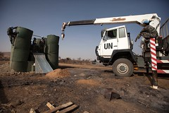 IDP in UNAMID base in Khor Abeche (undfs) Tags: aftermath security conflict engineers wfp idp bufferzone internallydisplacedpeople unamid